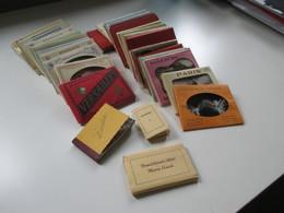 40 Leporellos Kleine Fotos 1940 / 50er Jahre! Deutschland / Italien / Österreich / Luxemburg Usw. Interessanter Posten!! - Cartoline