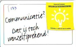NEDERLAND CHIP TELEFOONKAART CRE 173 * Schiedam, Organisatievernieuwing * Telecarte A PUCE PAYS-BAS * ONGEBRUIKT MINT - Netherlands
