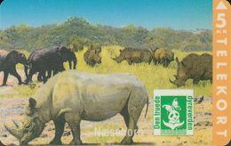 Denmark KP-073 Endangered Wildlife: Rhinoceros, 3.500 Ex - Denmark