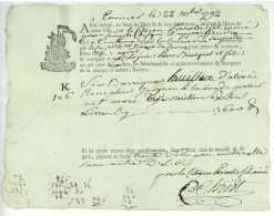 Connaissement Maritime CANNES 1792 - Historische Dokumente