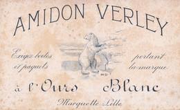 Vers 1940 - Marquette-lez-Lille (Nord) - Buvard Amidon Verley à L'Ours Blanc - FRANCO DE PORT - Animaux