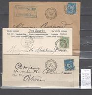 Lettre Cachet Convoyeur Grenoble à Lyon Par Saint Rambert - 3 Piéces - Poststempel (Briefe)