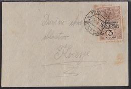 Yugoslavia, Kingdom, 3 Din Revenue Stamp Used As Definitive, Velike Lašče, 1922 - Covers & Documents