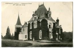 CPA 37 Indre Et Loire Chédigny Château Du Breuil XVème Siècle - France