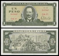 Banco Central 1 PESO 1982 J.Marti P 102b UNC - Cuba