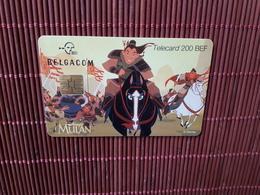 Phonecard Disney Mulan  Used - Belgium