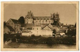 CPA 49 Maine Et Loire Durtal La Façade Du Château Vue De La Rive Gauche Du Loir - Durtal