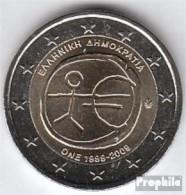 Griechenland 2009 Stgl./unzirkuliert 2009 2 Euro E.M.U. - 10 Jahre Währungs - Grecia