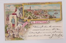 Serbia, Beograd, Colour Litho, V. Valižić, Mailed 1898, Very Good Quality - Serbia