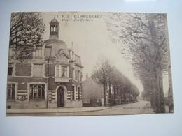 CPSM 59 LAMBERSART, Hotel Des Postes  1930 T.B.E. - Lambersart