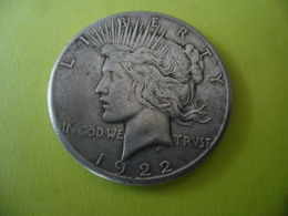 ETATS UNIS AMERIQUE - USA - 1 $ Silver 1922 S Type PAIX @ Argent 26,73 Gr. à 90 % - 2 Photos - Émissions Fédérales