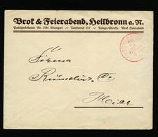 A5541) DR Württemberg Brief Um 1920 Franko-Stempel 5 Pfg. Heilbronn - Deutschland