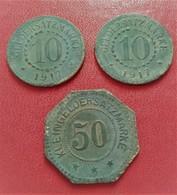 ALLEMAGNE  10  ET 50MONNAIE DE NECESSITE 1917  601 A - Monetary/Of Necessity