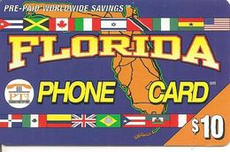 CARTE-PREPAYEE-USA-PT1 -10$-FLORIDA -6/00^--TBE - United States