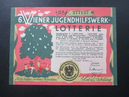 Österreich 6. Wiener Jugendhilfswerk Lotterie 1954. Österr. Kontrollstempel Für Ausspielungen - Lotterielose