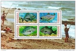 Namibia - 1994 Coastal Angling MS (**) # SG 640 , Mi Block 19 - Fische
