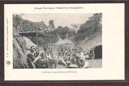 CPA CONGO Brazza Bangassou, Animée. Femmes N'Sakaras. - Congo Français - Autres