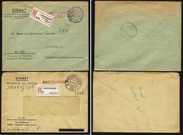 A5544) Niederlande Netherlands 2 Dienstbriefe 1948 / 1959 - Officials