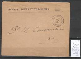 France - Lettre - Cachet Bureau Central De Paris - 1915 - Marcofilia (sobres)
