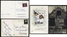 A5545) Niederlande Netherlands 2 Karten Mit Einzeiler-Stempeln - Postal History