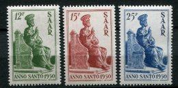 7532  SARRE   N°  273/5**   Année Sainte : Statue De St Pierre   1950    TB - Unused Stamps