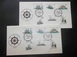 Australian Antarctic Territory: 1981 & 1982 UnAd. Ca-FDCs (#JE3) - FDC