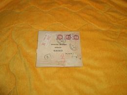 LETTRE DE 1943. / SERVICE DES MUTATIONS IMMOBILIERES OCCUPATION../ RECOMMANDE R 917 PARIS 116 CACHETS DONT AR + TIMBRES - 1921-1960: Modern Period