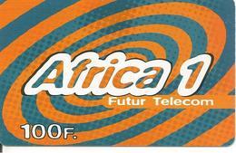 CARTE-PREPAYEE-1999-100 F-FUTUR TELECOM -AFRICA 1-GENERIQUE-T B E- - France