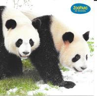 Carte Postale : Huan Huan Avec Yuan Zi + Timbre Au Dos (Voir Commentaires) - Bären