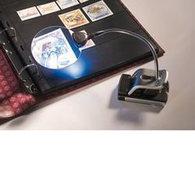 Loupe De Bureau Avec Bras Flexible Grossissement 2,5x Et 5x, 2 LED Incluses - Pinze, Lenti D'ingrandimento E Microscopi