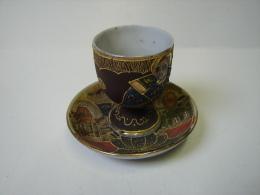 Lot. 895. Coquetier Et Son Assiette En Décors Chinois - Ceramics & Pottery