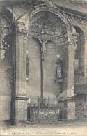 BAUGE . LE CALVAIRE ET L'EGLISE . AFFR AU VERSO EN 1930 . 2 SCANES - France