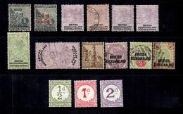 Bechuanaland Belle Petite Collection 1886/1892. Bonnes Valeurs. B/TB. A Saisir! - Bechuanaland (...-1966)