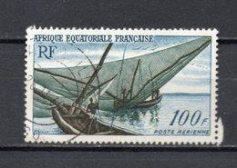 AEF PA N° 59  OBLITERE  COTE 1.40€ BATEAUX - A.E.F. (1936-1958)