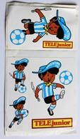 4 Autcollants Argentina 78 Coupe Du Monde Football 1978 World Cup Téléjunior - Habillement, Souvenirs & Autres