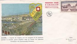 ALGERIE. ALGER . 1er Jour D'Emission . Timbre - Non Oblitéré - France 25F Château De Valençay - Algérie (1962-...)