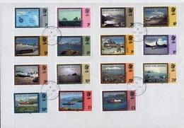 Falkland Islands Dependencies 1980 Queen Elizabeth Definitive Complete Set Fine Used Stamps. - Falkland Islands