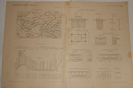 Plan De La Ligne Du Tramway De Paris à Saint Germain En Laye. 1890 - Public Works