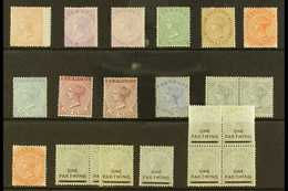 1865-1904 QUEEN VICTORIA ISSUES A Mint Or Unused Range Which Includes 1865-1903 (wmk CC) 1d Pale Rose Unused (wing Margi - Bermuda