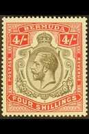 1918-22 4s Black & Carmine, SG 52b, Never Hinged Mint For More Images, Please Visit Http://www.sandafayre.com/itemdetail - Bermuda
