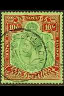 1924-32 10s Green & Red/pale Emerald, SG 92, Very Fine Used For More Images, Please Visit Http://www.sandafayre.com/item - Bermuda