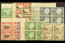 1936-47 Pictorial Definitive Set, SG 98/106 As Never Hinged Mint Blocks Of 4 (36 Stamps) For More Images, Please Visit H - Bermuda