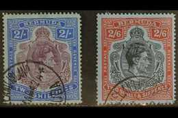 1941-42 LINE PERF 2s And 2s.6d, SG 116b & 117a, Each With Ireland Island 1942 Cds. (2 Stamps) For More Images, Please Vi - Bermuda