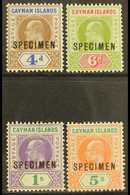 """1907 Set, Overprinted """"SPECIMEN"""", SG 13/16s, Extremely Fine Mint. (4) For More Images, Please Visit Http://www.sandafayr - Cayman Islands"""