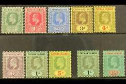 1907-09 KEVII Complete Set, SG 25/34, Fine Mint, Very Fresh. (10 Stamps) For More Images, Please Visit Http://www.sandaf - Cayman Islands
