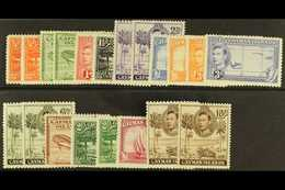1938-48 Complete Set, SG 115/126, With Some Additional Perfs Or Shades To 2s And 10s, Superb Never Hinged Mint. (20 Stam - Cayman Islands