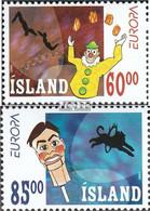 Island Mi.-Nr.: 1009-1010 (kompl.Ausg.) Postfrisch 2002 Zirkus - 1944-... Republik