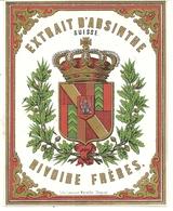 EXTRAIT D'ABSINTHE SUISSE . RIVOIRE FRERES - Publicités