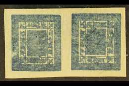 1886-98 1a Blue, Imperf On Native Paper, Horizontal TETE-BECHE PAIR (SG 7a, Scott 7a, Hellrigl 7c), Fine Unused With Lar - Nepal