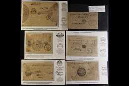 OFFICIAL MAIL 1880-1910 Hoard Of Stampless Native Covers. Chiefly Incoming To Kathmandu, From Towns/villages Including B - Nepal
